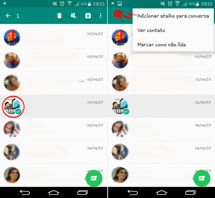 criar atalho de conversas favoritas no whatsapp