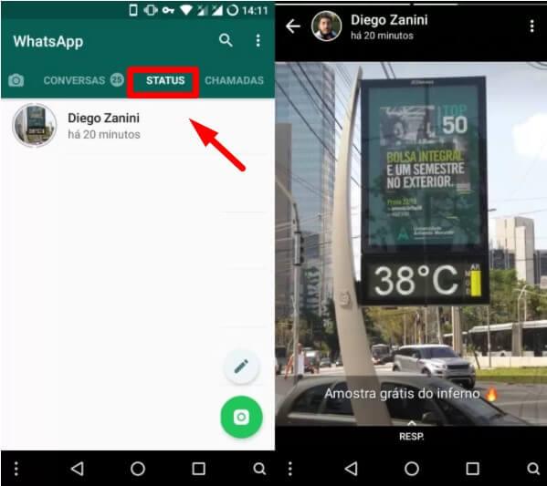 salvar fotos, vídeos e GIFS do Status do WhatsApp