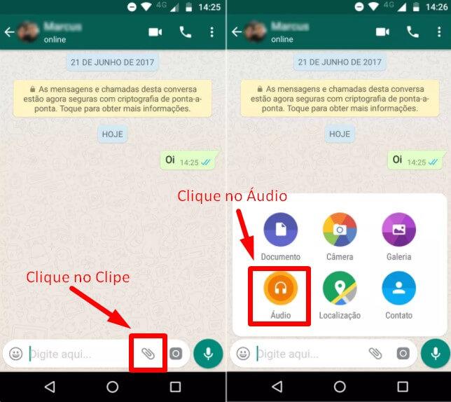 Como gravar áudio no WhatsApp sem segurar no botão