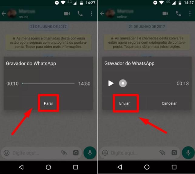 Como enviar áudio do whatsapp sem segurar o ícone