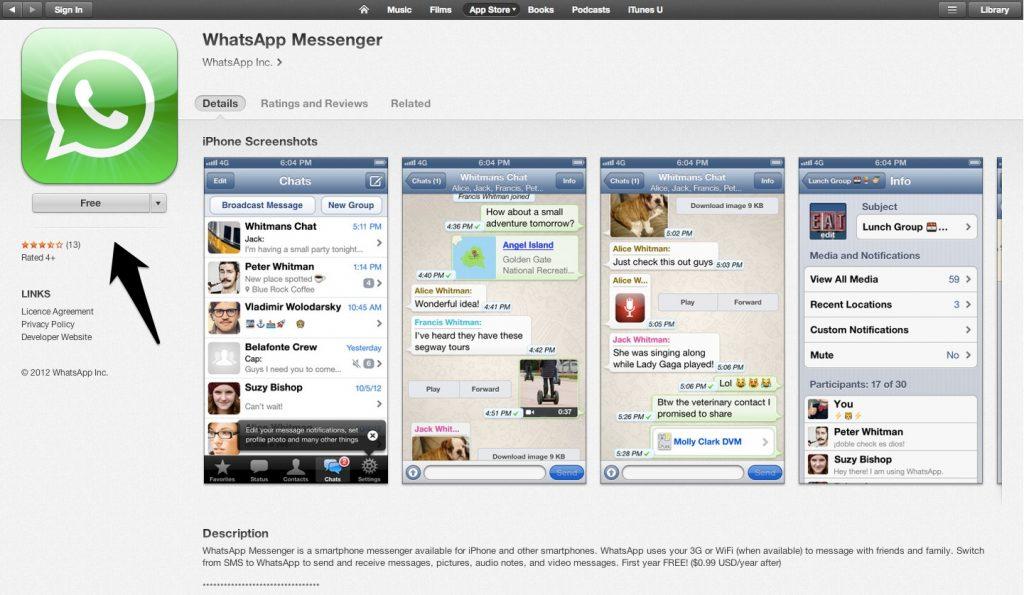 Baixar whatsapp para celular iphone ios