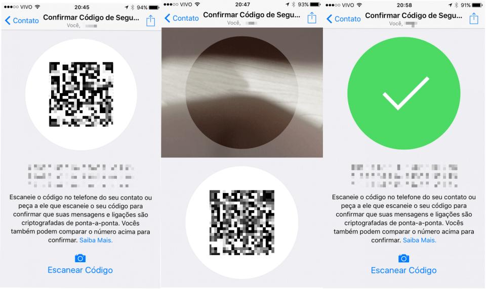 Whatsapp criptografado ponta a ponta