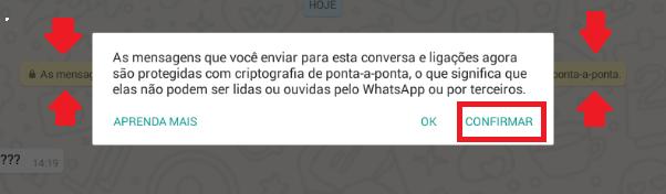 Whatsapp criptografado ponta a ponta 3