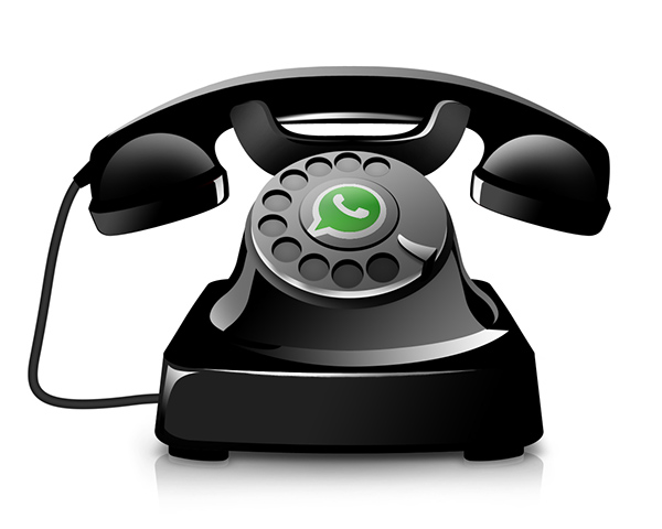 Telefone antigo WhatsApp