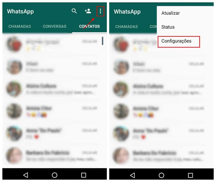 Como trocar frase de status do WhatsApp