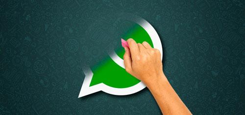 deletar mensagem de whatsapp