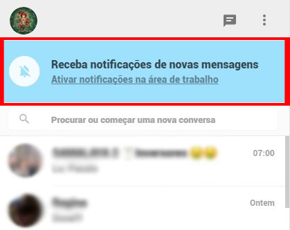 notificacoes do whatsapp web