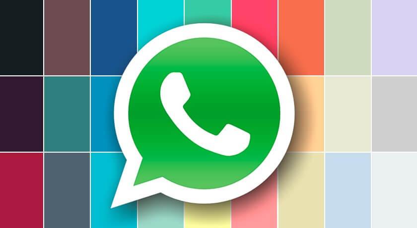 whatsapp colorido