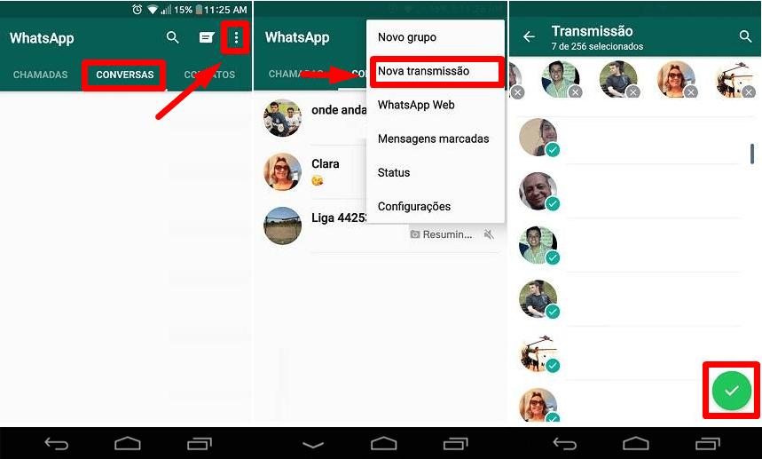 como enviar uma mensagem para vários contatos ao mesmo tempo