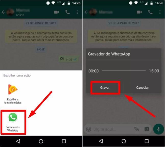 Como gravar áudio no WhatsApp