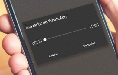 Como gravar aúdio do WhatsApp sem segurar o botão